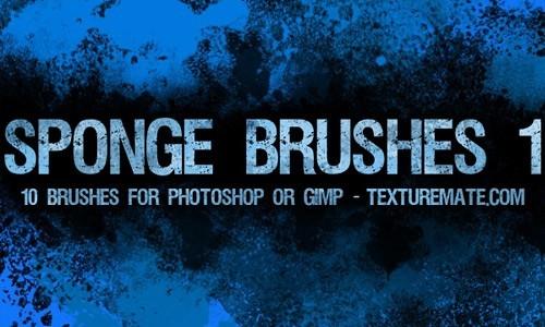 Free Grungy Sponge Brushes For Photoshop