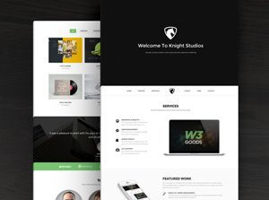 Free Bootstrap Theme – Knight