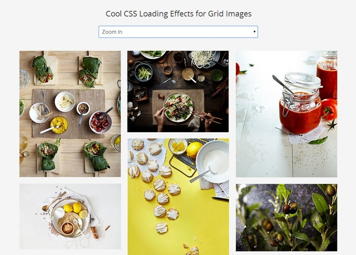Cool CSS Loading Effects for Grid Images