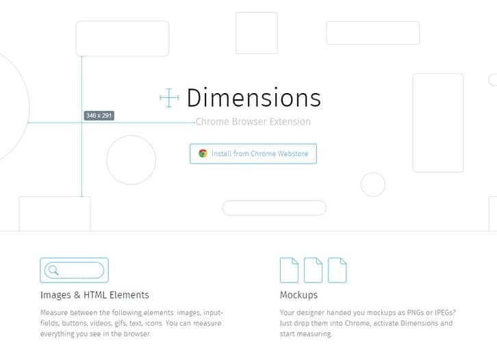 A browser extension for coders to measure screen dimensions