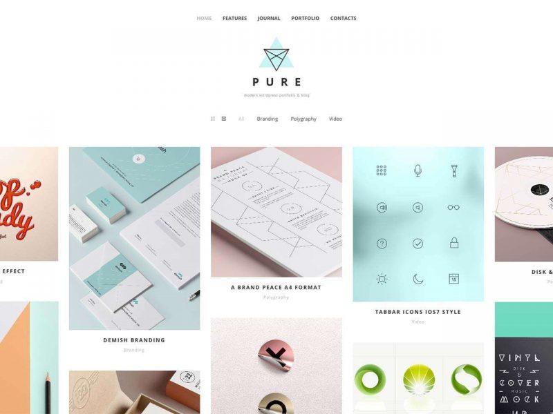 Pure WordPress theme – Free download