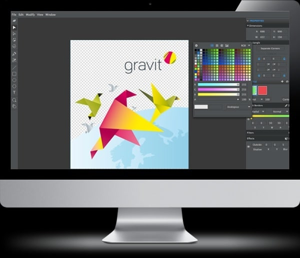 Gravit, the new and fresh thinking open source design tool for Mac, Windows, Linux, ChromeOS and the Browser