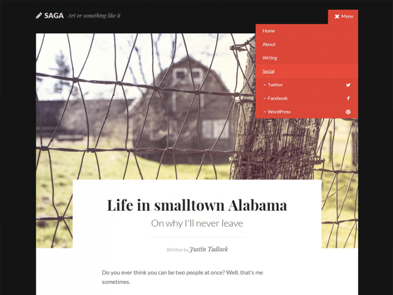 Saga: A Free WordPress Theme