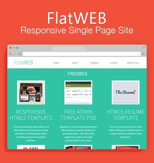 A Single Page Responsive Free Website HTML Template