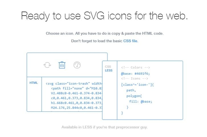Ready to use SVG icons for the web