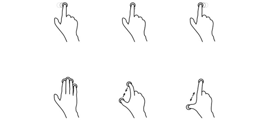 Freebie: Touch Gesture Icons
