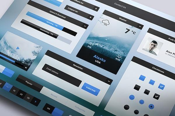 Winter UI Kit – free download