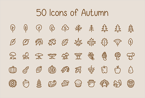 Freebie: Icons Of Autumn (50 Icons, EPS)