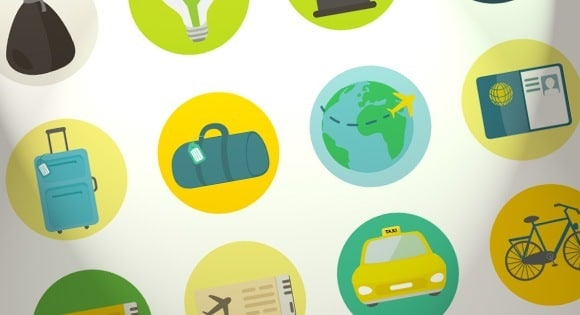 Freebie: Travel and Ecology Icon Set (AI, SVG, PSD, PNG)