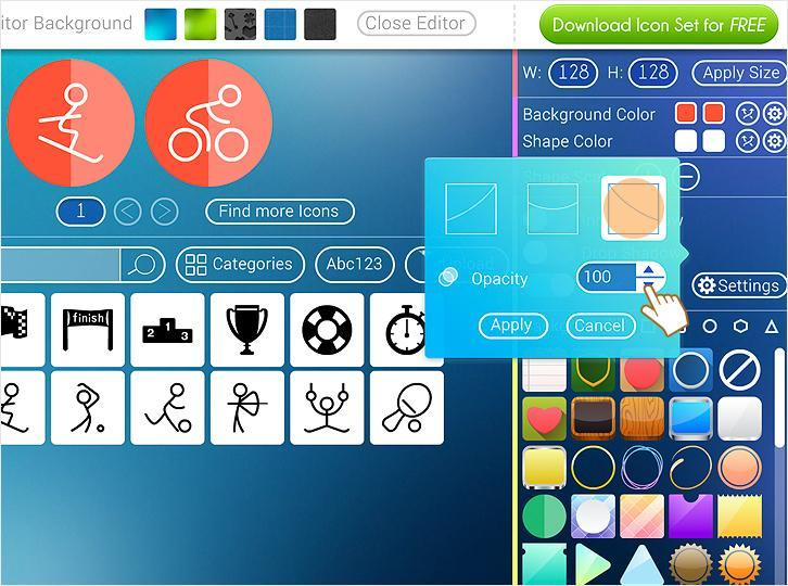 Free Icon Maker is a tool that helps designers to create amazing icons