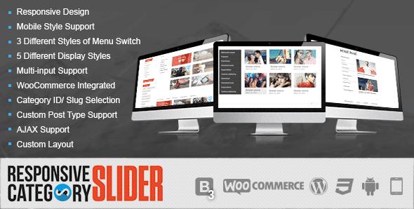 WordPress – Free Responsive Category Slider