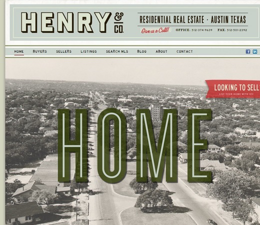 26 Websites using Classic Retro Vintage Effects