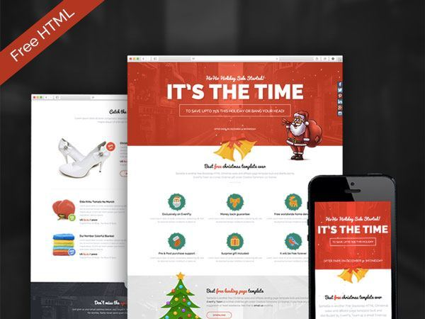 SantaGo – Free Christmas Sales & Affiliate Landing Page Template