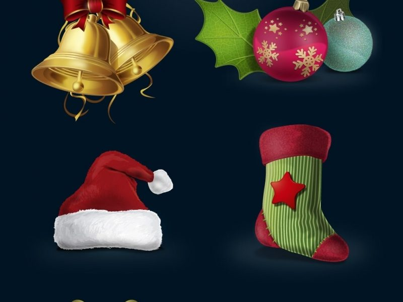 Freebie: A Highly Detailed Christmas Vector Icon Set