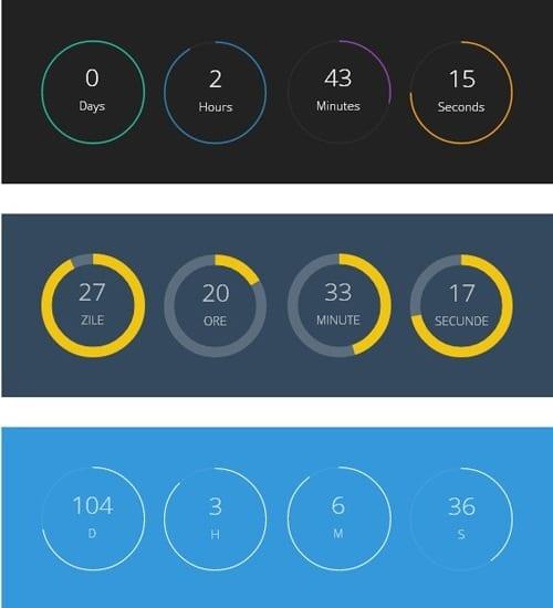 jQuery Plugin to Create Circular Countdowns
