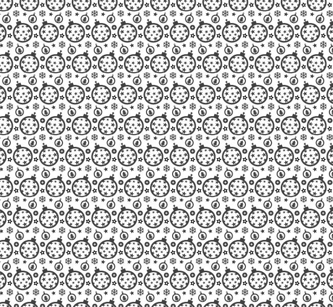 Festive Christmas ornament seamless vector pattern