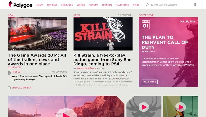Online Magazine Website Layouts for Design Inspiration