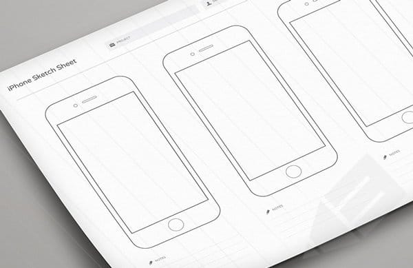 Print-ready Wireframe Sketch Sheets