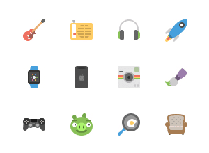 Squid.ink – 40 Flat Icons