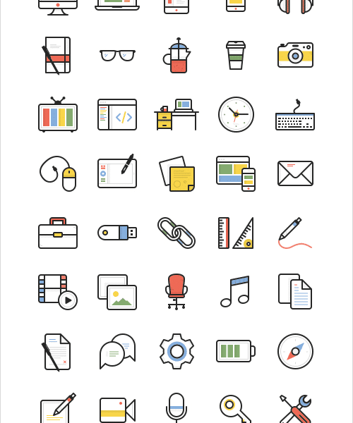 Dashel Icon Set (45 Icons, SVG, PSD, PNG)