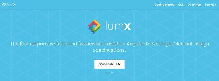 Responsive framework based on AngularJS & Google Material Design