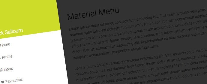 Material Design Projects – Off Canvas Menu