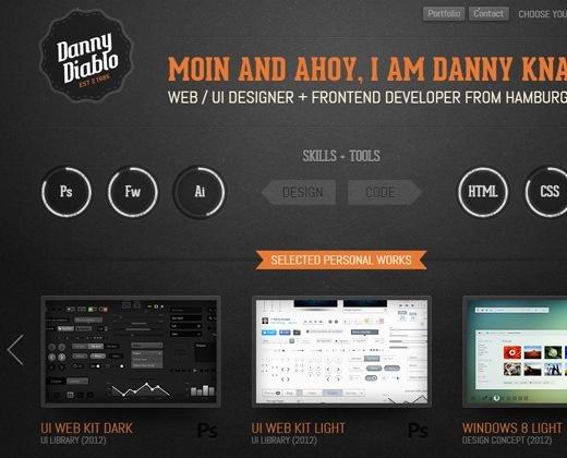 36 Dark Minimalist Portfolio Website Designs