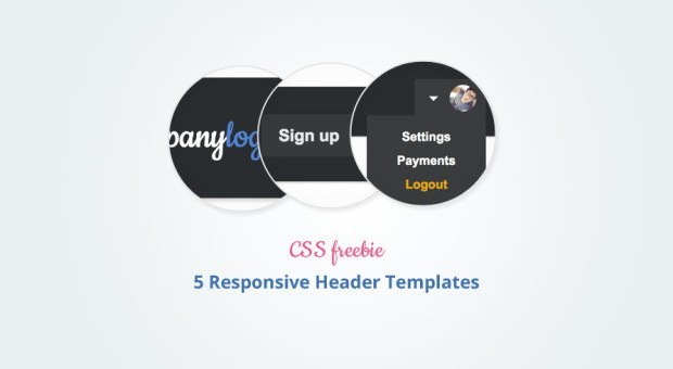 Freebie: 7 Pretty and Responsive Header Templates