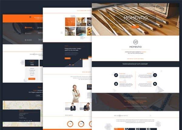 Free HTML Single Page Web Theme – Momentio