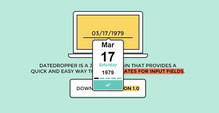 Datedropper – manage dates for input fields