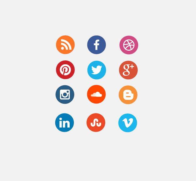 Circlular free social media SVG icon set