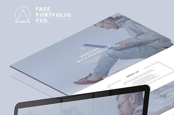 Free PSD landing page