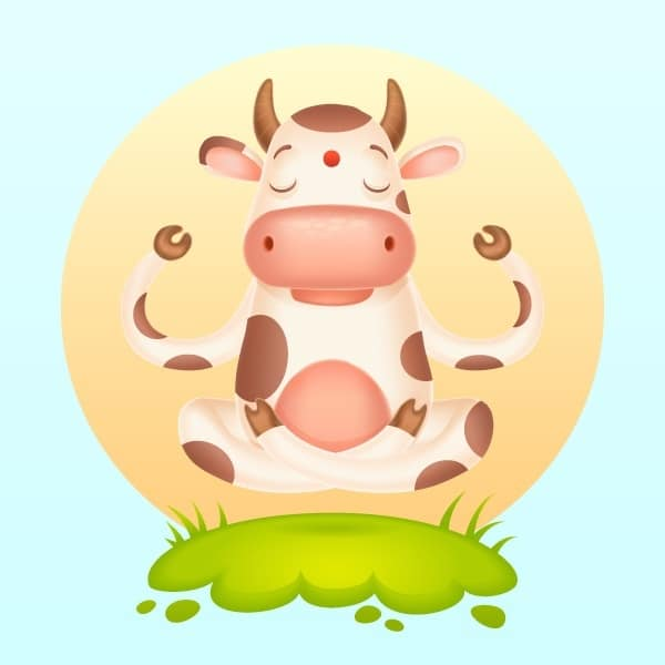 Om! How to Create a Meditating Cartoon Cow in Adobe Illustrator
