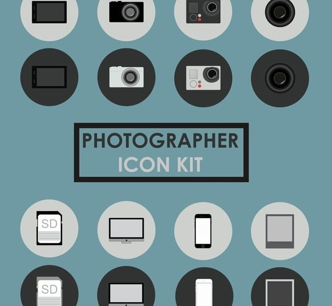 Photographer Icon Kit – Free Download