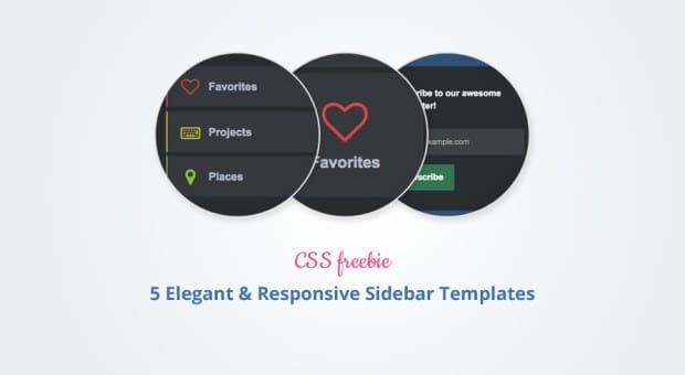 Freebie: 5 Elegant and Responsive Sidebar Templates