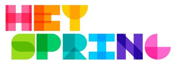 "Say ""Hey Spring!"" With This Colorful Vector Text Design in Adobe Illustrator"