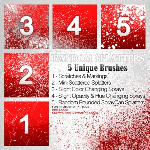 29 Superb Blood Brushes Sets For Photoshop