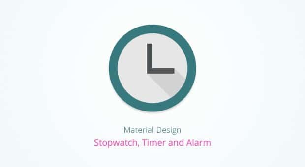 Experiment: Material Design Stopwatch, Alarm and Timer