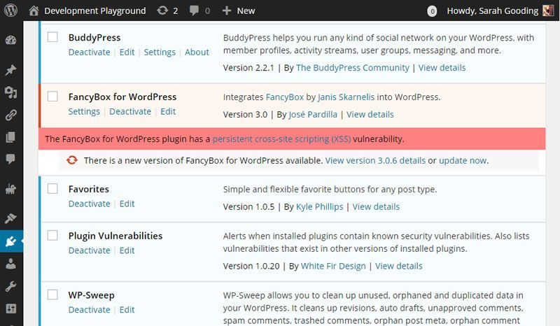 Get Email Alerts for Security Vulnerabilities in Your WordPress Plugins