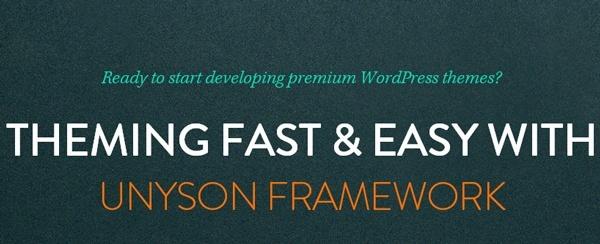 Unyson, a framework for WordPress