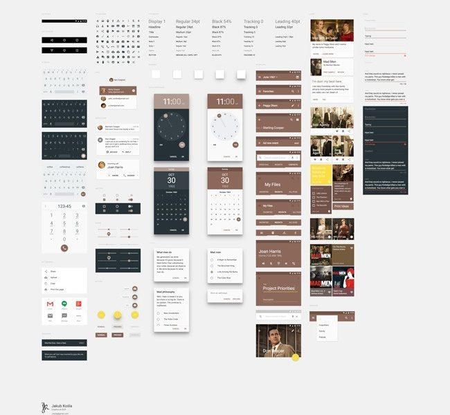 Material Design UI Kit freebie