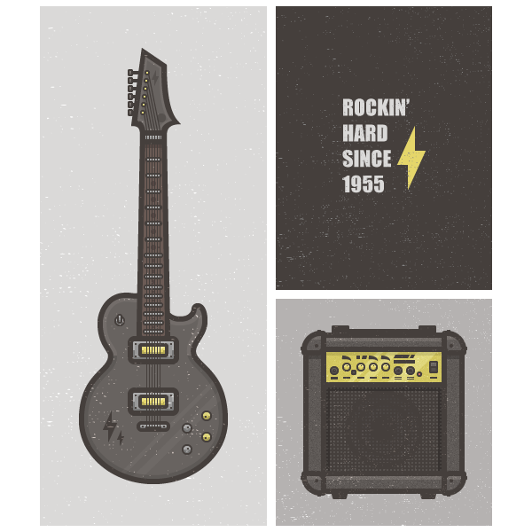 How to Create a Flat, Minimalist Rock Card Using Adobe Illustrator