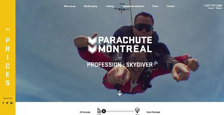 Fantastic Examples of a Fullscreen Video Background in Web Design