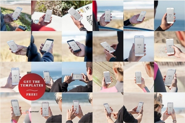 A surf-themed template pack for iPhone 6