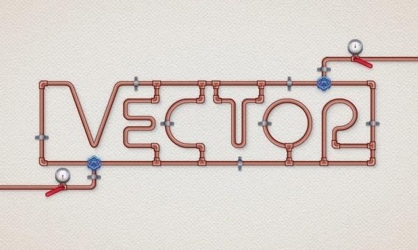 Create a Copper Pipe Text Effect in Adobe Illustrator