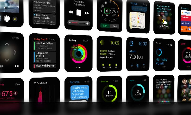 30 Apple Watch GUI Kits, Mock-ups and Templates for Free