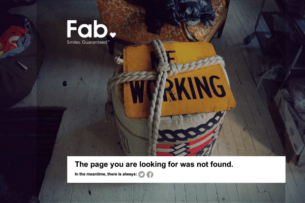 30 Beautifully Designed 404 Error Pages