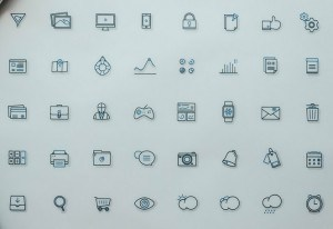 40 Line Icon Set (AI+PSD)