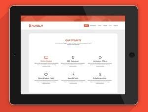 KOMOLA PSD web Template (free download)