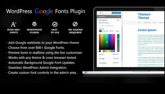 7 Plugins To Integrate Google Web Fonts In WordPress